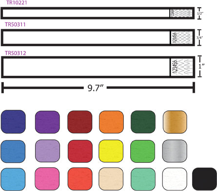 Sizing Options for wristbands