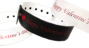 Vinyl Wristbands for Valentine Events!
