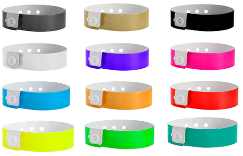 Vinyl Wristbands for upscale events. these bands are good for 1 to 3 day use.