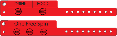 Cash Tag Vinyl Wristbands.