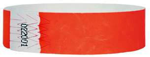 neon red tyvek wristbands