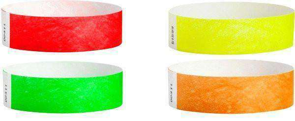 1inch Tyvek Paper Wristband Solid Colors - TrendyWristbands