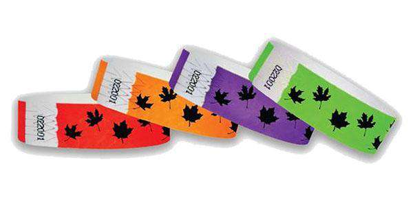 3/4 Fall Leaves Wristbands