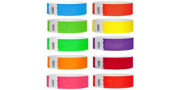 3/4 Fiberband Wristbands Solid Colors UV