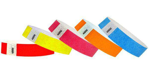 "3/4"" Standard Tyvek Wristbands Solid Colors"