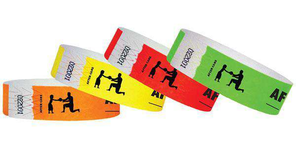 "3/4""  Tyvek After Care Wristbands"