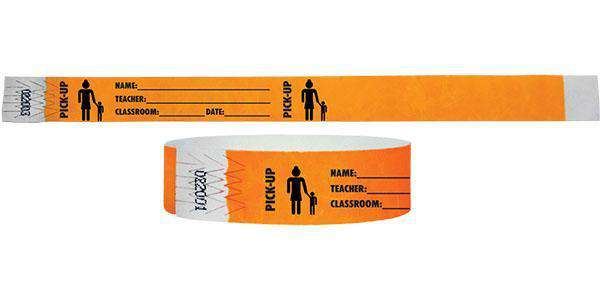 "3/4""  Tyvek Pick-Up Wristbands"