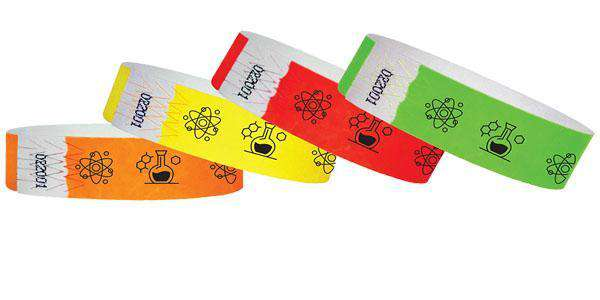 "3/4""  Tyvek Science Museum Wristbands"