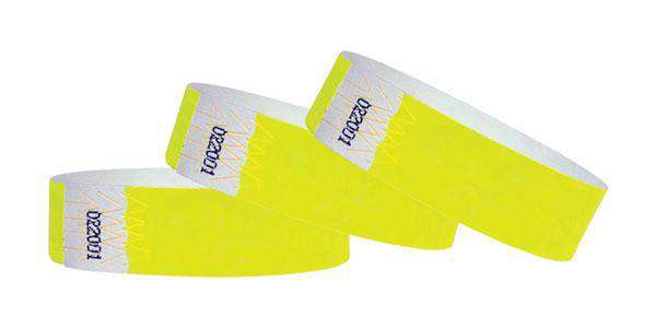 "3/4""  Wristbands Summer Yellow"