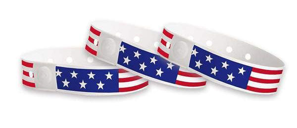 American Flag Plastic Wristbands Design 2