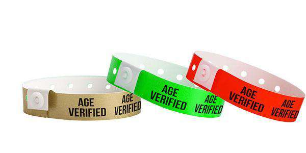 Age Verified Plastic Wristbands