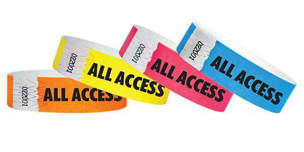 "3/4"" Standard Wristbands ALL ACCESS"