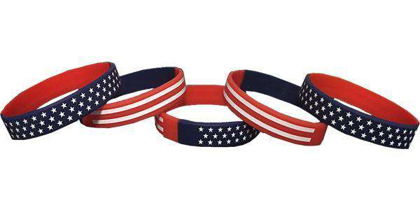 American Flag Silicone Wristbands