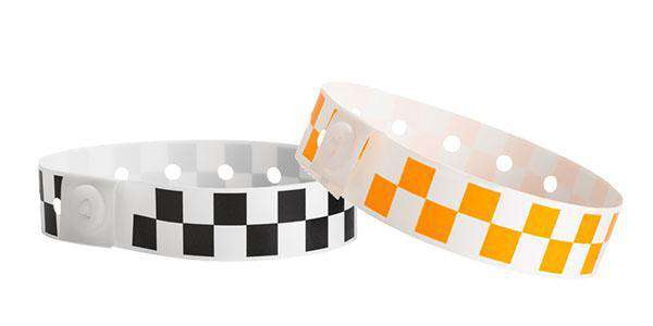 Checker Boards Plastic Wristbands