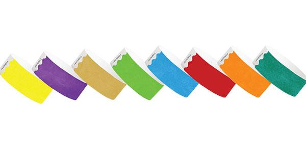 Custom 1inch Tyvek Paper Wristband Solid Colors