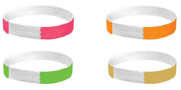 Custom Printed 1/2 Tyvek Closeout Wristbands Solid Colors
