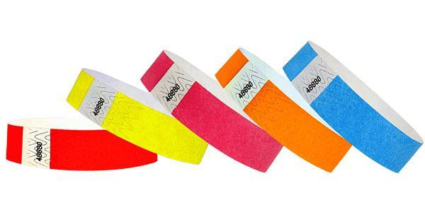 "Customizable 3/4"" Standard Wristbands Solid Colors 200 Count with Print"