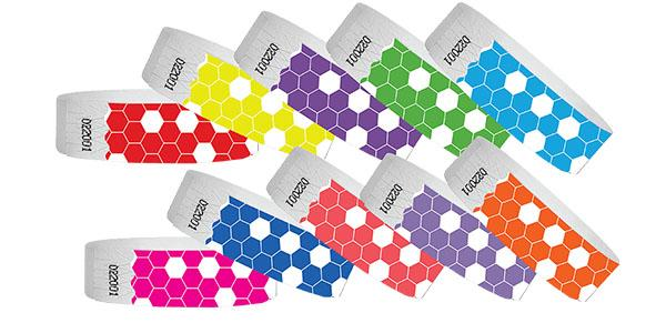 Customizable 3/4 Tyvek Wristband Design HoneyComb