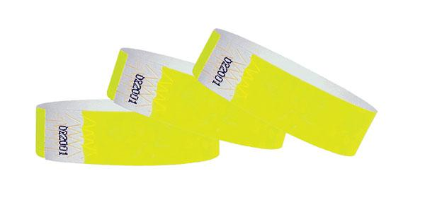 "Customizable 3/4""  Wristbands Summer Yellow On Sale"