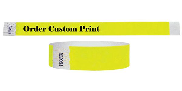 "3/4""  Wristbands Summer Yellow On Sale"