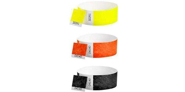 Customized 1inch Tyvek Wristbands DUAL Numbered Solid Colors