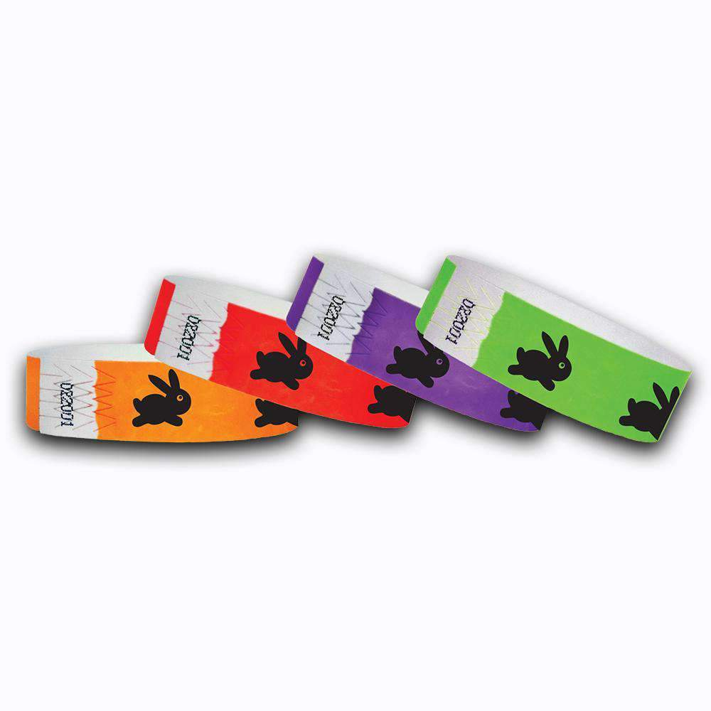 3/4 Easter Bunny  Tyvek Wristbands