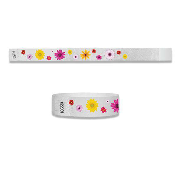 3/4 Flowers Full Color Wristbands