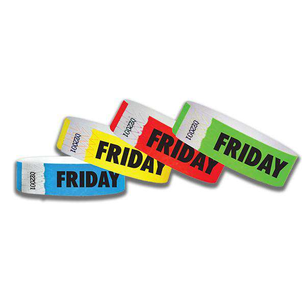 3/4  Friday Only Tyvek Wristbands