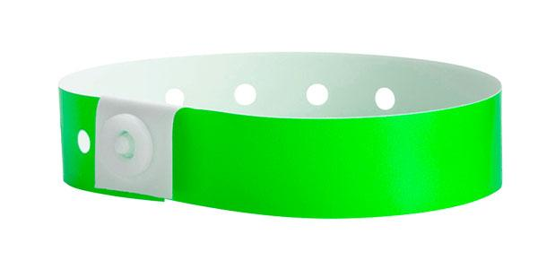 Green Plastic Wristband Solid Colors