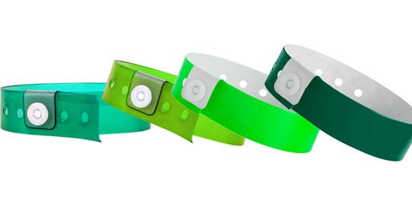 Green Vinyl Wristbands