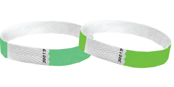 Green 1/2 Tyvek Wristbands - TrendyWristbands