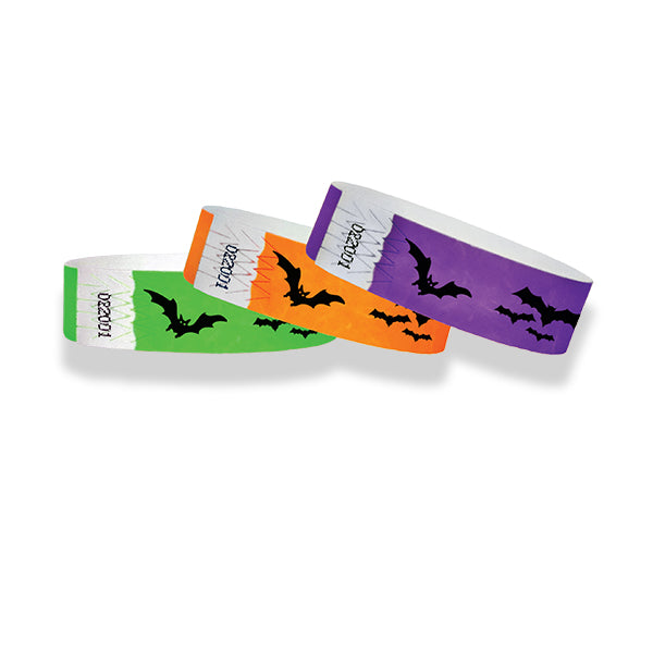 3/4 Halloween Bats Wristband Sale