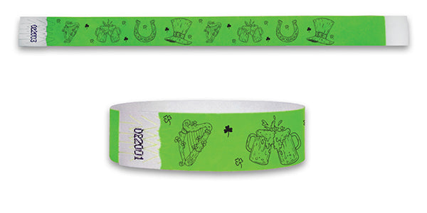 3/4   Drawn St Patrick's Day Wristbands
