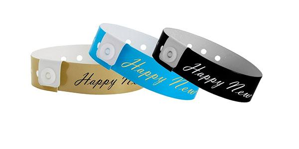 Happy New Year Vinyl Wristband