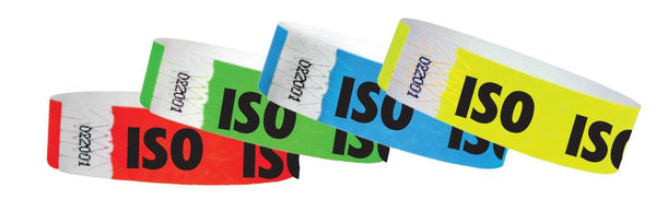 "3/4"" Medical Alert ISO Tyvek Wristbands"