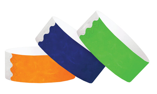 "1"" Tyvek Solid Color Wristbands - No Numbers"