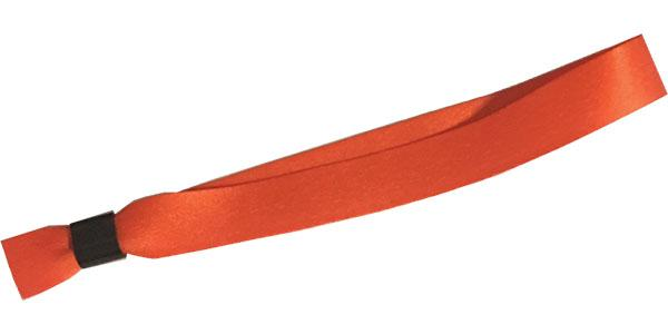 Orange Cloth Wristbands Solid Color No Print