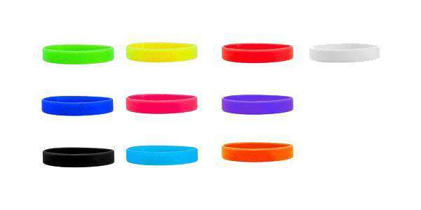 Silicone Wristbands Solid Colors