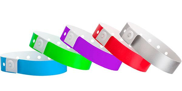 Solid Colored Plastic Wristbands