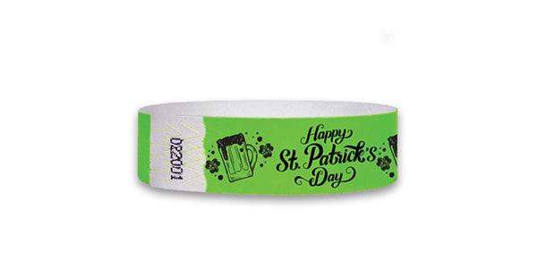 3/4  St Patrick's Day Over 21 Wristbands