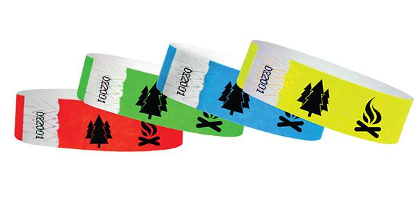 "3/4"" Standard Wristbands Tree / Camp Fire"