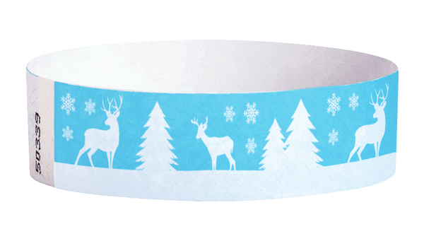 "3/4"" Deer Tyvek Wristbands"