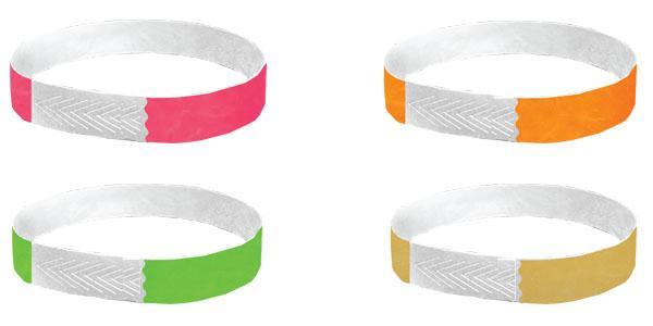 1/2 Tyvek Closeout Wristbands Solid Colors