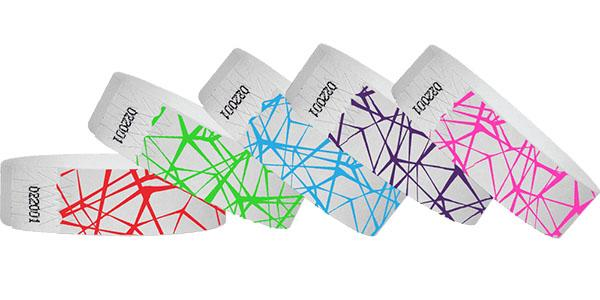 3/4 Tyvek Wristband Design Web