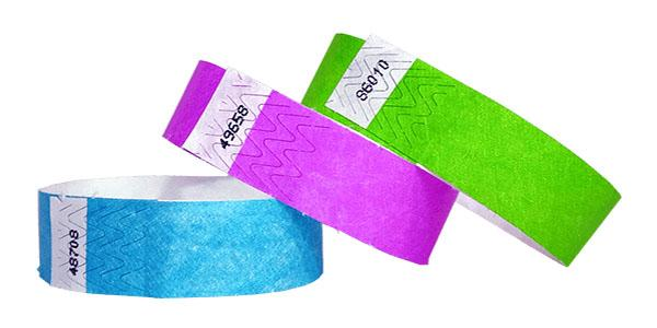 "Same Day Ship 3/4"" Tyvek Wristbands Solid Colors"