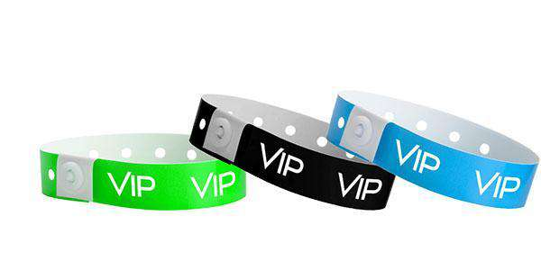 VIP Wristbands printed in White