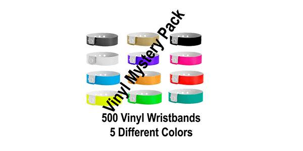 Vinyl Wristband Multi Color Mystery Pack