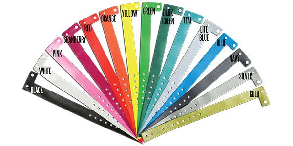 Vinyl Wristband Solid Colors