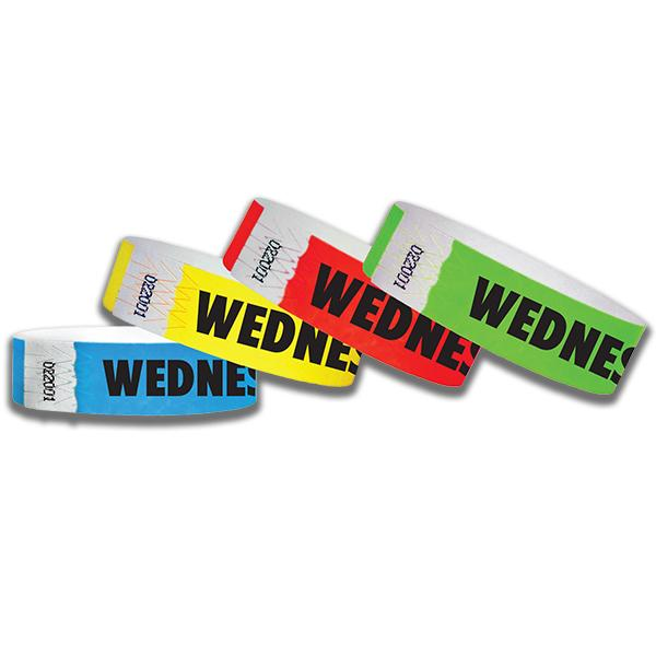 3/4  Wednesday Tyvek Wristbands