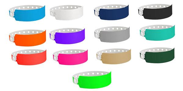 Wide Plastic Wristbands